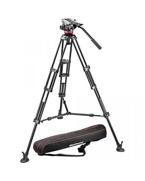 مانفروتو، حامل كاميرا الفيديو السلس، ألومنيوم/ منتشر أرضي (MVH502+546GB)