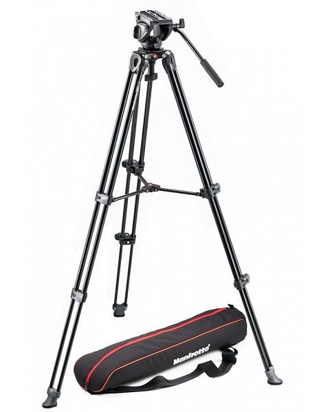 Manfrotto Tripod with fluid video head Lightweight with Side Lock (MVK500AM)