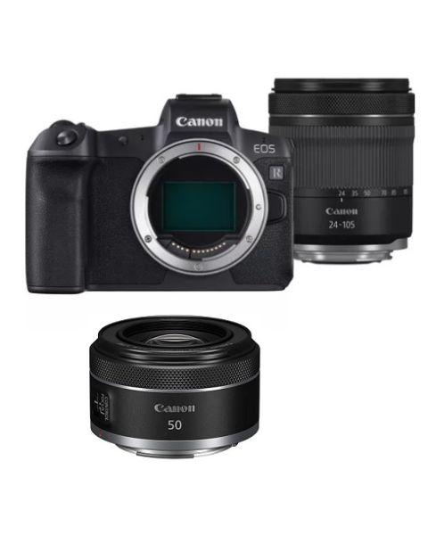 Canon EOS R RF 24–105mm F4 - 7.1  IS STM Kit (EOSR-24-105) + Canon RF 50mm F1.8 STM Lens