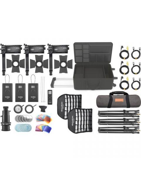 Godox S60-D Focusing LED 3-Light Kit (S60-D)