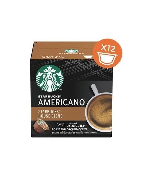 Starbucks House Blend – Americano Capsules By Nescafe Coffee Pods Box of 12 (SBUX AMERICANO-HC)