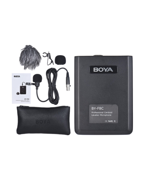 Boya Cardioid Lavalier Microphone BY- F8C for Video or Instruments (BY-F8C)