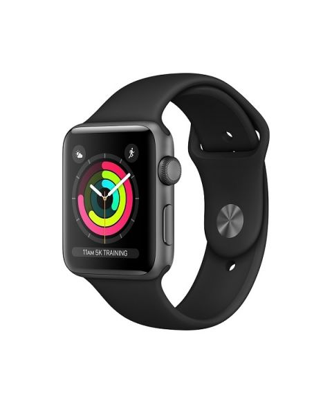 Apple Watch S3 GPS, 42 Grey with Black Sport Band (MTF32AE/A)