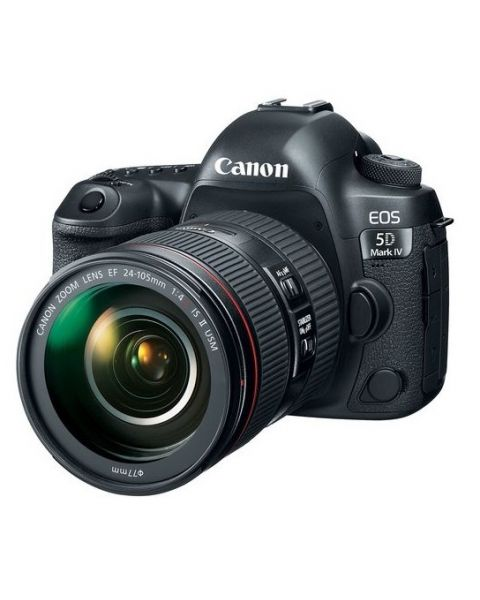 Canon EOS 5D Mark IV DSLR Camera, 30.4 MP with 24-105mm lens, Black (EOS5DMK4) + Memory Card 16GB