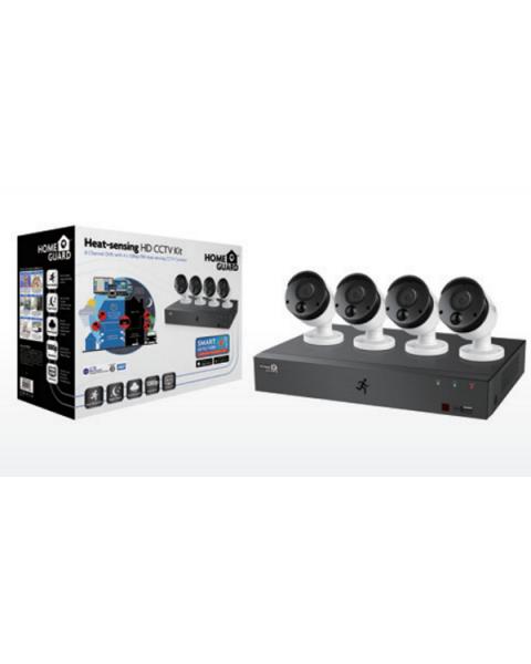 HomeGuard 1080P 8CH DVR & 4x 1080P PIR Heat-sensing Day/Night CCTV Cameras 2TB (HGDVK-84404)