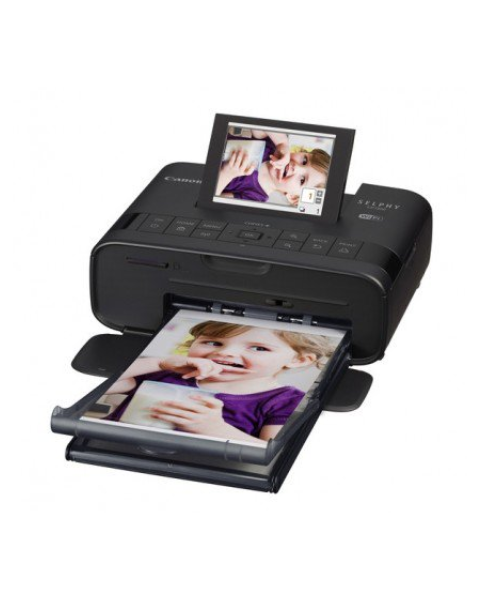 Canon SELPHY CP1300 Compact Photo Printer - Black + Canon RP-108 Ink/Paper (CP1300)