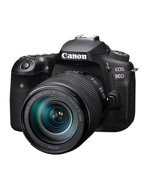 كاميرا كانون مع عدسه 18-135 مم 32 ميجا بكسل (EOS90D) + بطاقة ذاكرة 16 جيجابايت + حقيبة