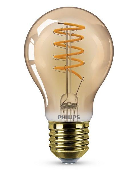 مصباح (ليد)  كلاسيكي ذهبي 4 واط ديمر A60 (PHI-929002982801)