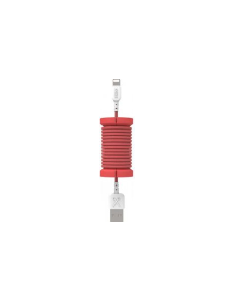 Philo Spool Lightning MFI Cable, Red (PH004RD)