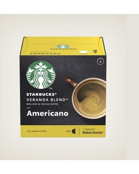 Starbucks Americano Veranda Blend Capsules By Nescafe Coffee Pods Box of 12 (SBUX BLONDE VERANDA)