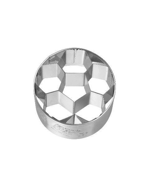 Birkmann Cookie Cutter Football small, 4,5 cm Stainless steel, with internal detailing (195349)