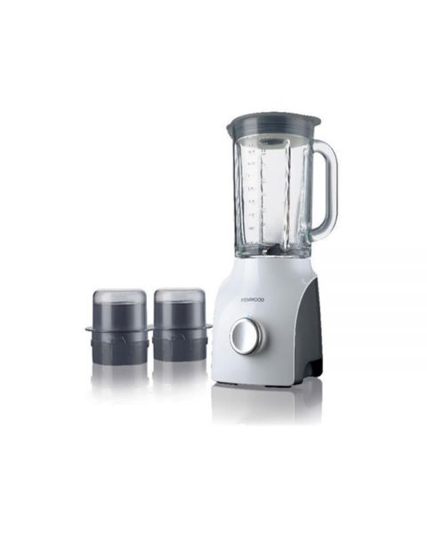 Kenwood BLP607WH  800W Blend-X Classic Blender - Variable speed + Pulse / 3 Attachments - Dishwasher safe parts White/Grey - Thermal shock resistant (OWBLP607WH)