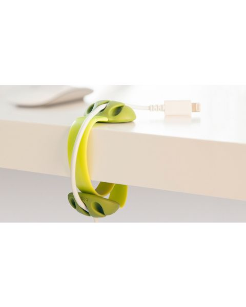 Bobino Desk Cable Clip - Lime (DECAC LM)