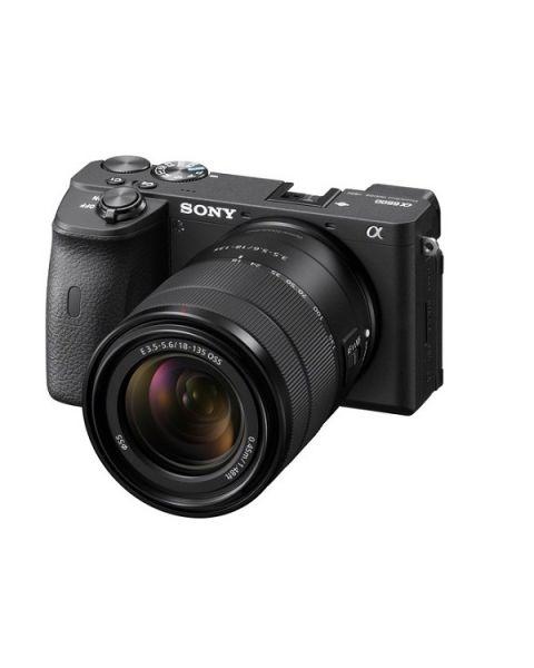 كاميرا رقمية سوني مع عدسة زوم 18-135مم (ILCE-6600M) + بطاقة ذاكرة 16 جيجابايت