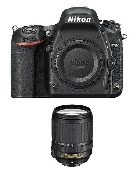 Nikon D750 DSLR body only (VBA420AM) + NPM Card + Memory Card 64GB + NIKON AF-S 24-120mm f/4G ED VR Lens