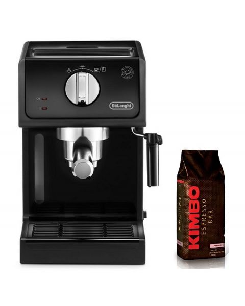 DELONGHI PUMP ESPRESSO COFFEE MAKER (DLECP31.21) + Kimbo Prestige Coffee Beans