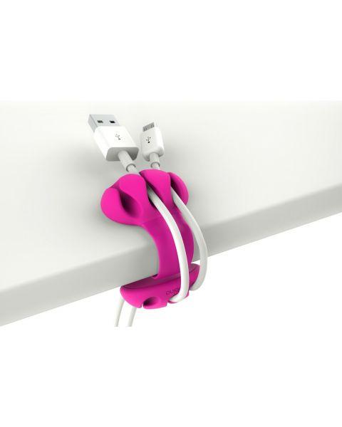 Bobino Desk Cable Clip - Fuchsia (DECAC FS)