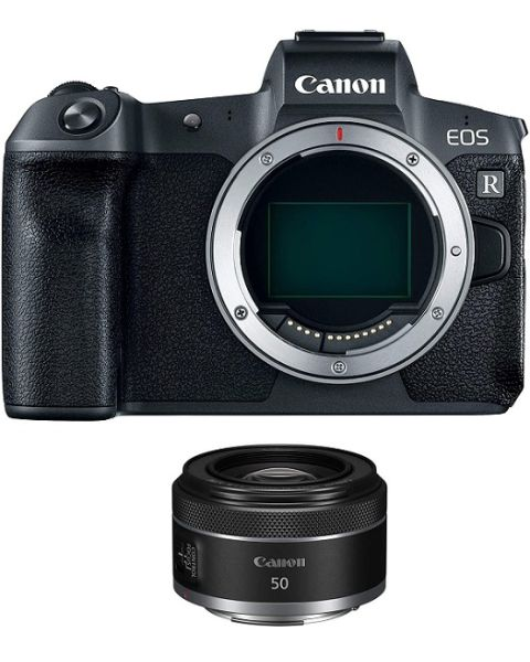 Canon EOS R Body + Adapter EU26 (EOSR-B) + Canon RF 50mm F1.8 STM Lens
