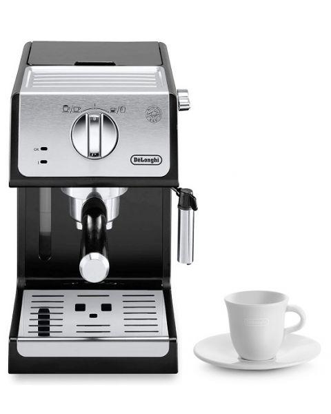 Delonghi ECP33.21.BK Pump Espresso Coffee Machine (DLECP33.21.BK) + Delonghi 2 Espresso Cups