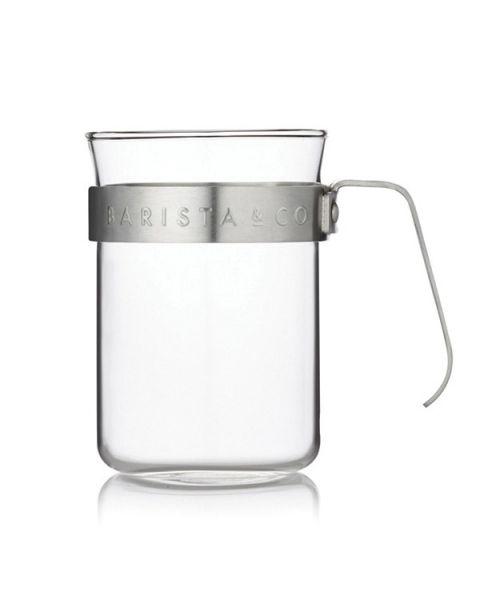 Barista & Co Glass Coffee Cups with Metal Handle - Set of Two (BC024-005)
