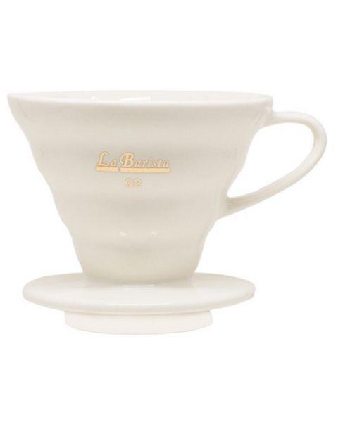 قمع ترشيح القهوة v60 أبيض لاباريستا (LB-728)