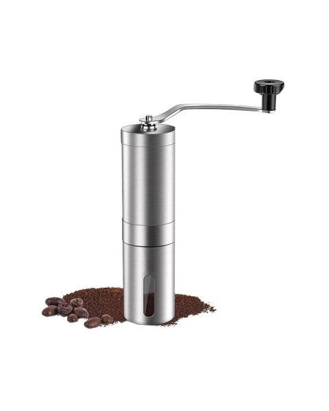 لا باريستا مطحنة قهوة يدوي، فضي (LB-613)