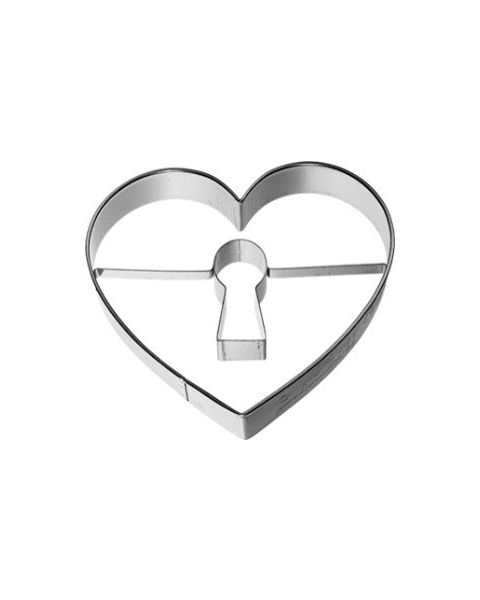 Birkmann Cookie Cutter Heart with keyhole, stainless steel 7cm (198241)
