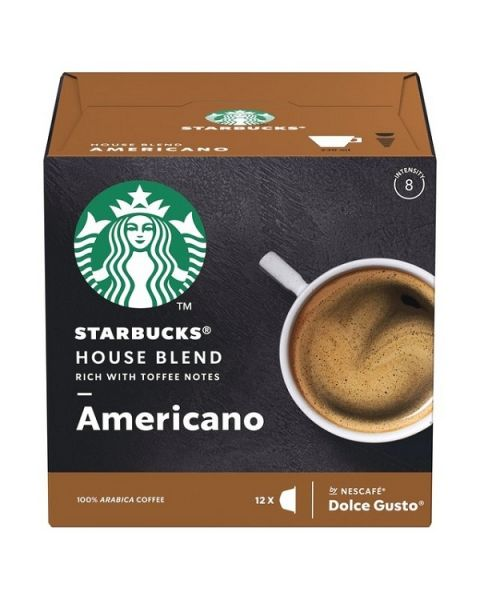Starbucks Medium House Blend Coffee Capsules By Nescafe Coffee Pods Box of 12 (SBUX MEDIUM HOUSE BLEND)