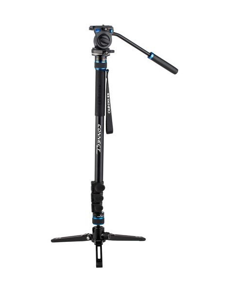 Benro MCT28AF Monopod with Flip Locks, 3-Leg Base, and S2 Video Head (BENRO-MCT28AFS2)