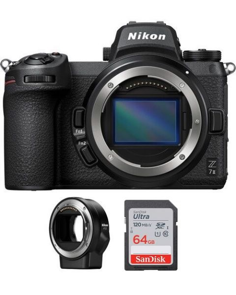 Nikon Z7ii Camera Body Only + Memory Card 64GB + FTZ Mount (VOA070AM)