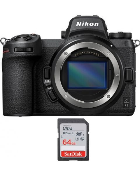 Nikon Z7ii Camera Body Only (VOA070AM)  + Memory Card 64GB