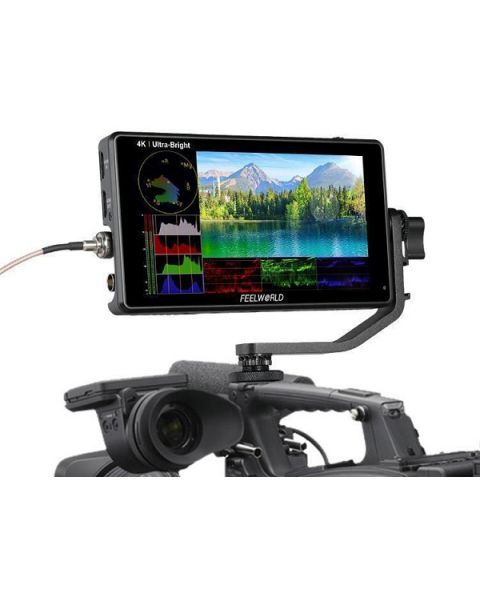 FEELWORLD LUT6S 6 Inch 2600nits HDR/3D LUT Touch Screen DSLR Camera Field Monitor (FEELWORLD-LUT6S)