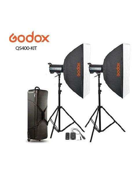 GODOX QS400-KIT STUDIO LIGHT KIT (QS400-KIT) + 2 Pcs Light Stand