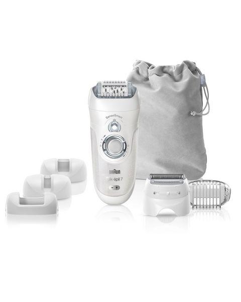 Braun Silk-épil 7 SensoSmart™ 7/880 epilator silver - Cordless Wet & Dry epilator with 7 extras (SES7880)