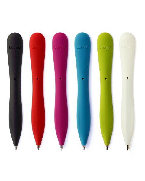قلم بوبينو رفيع جداً مع امكانية حفظه داخل اي الدفتر - أبيض (SPB WH)