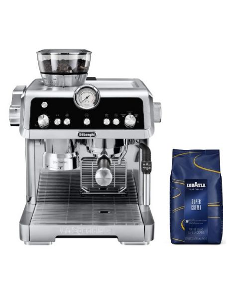 DeLonghi La Specialista EC9335.M Pump Espresso Coffee Machine (DLEC9335.M) + Coffee Beans Lavazza Super Crema 2 KG