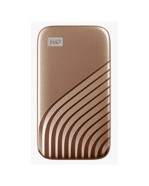 ويسترن ديجيتال ماي باسبورت، 1 تيرابايت، ذهبي (WDBAGF0010BGD-WESN)