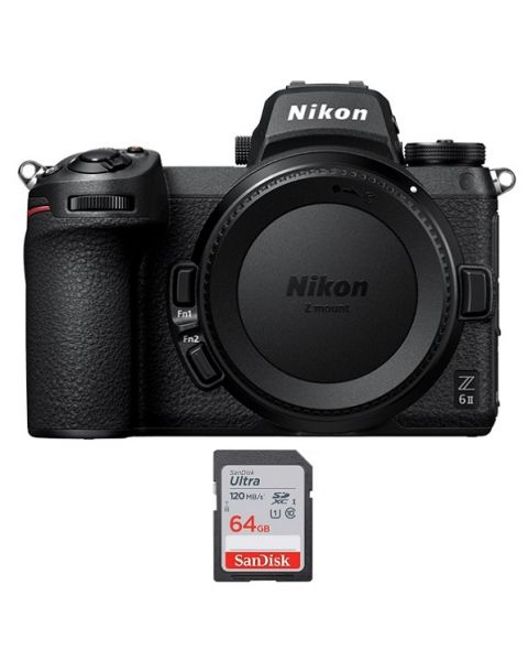 NIKON Z6 II Mirrorless Body Only (VOA060AM) + Memory Card 64GB