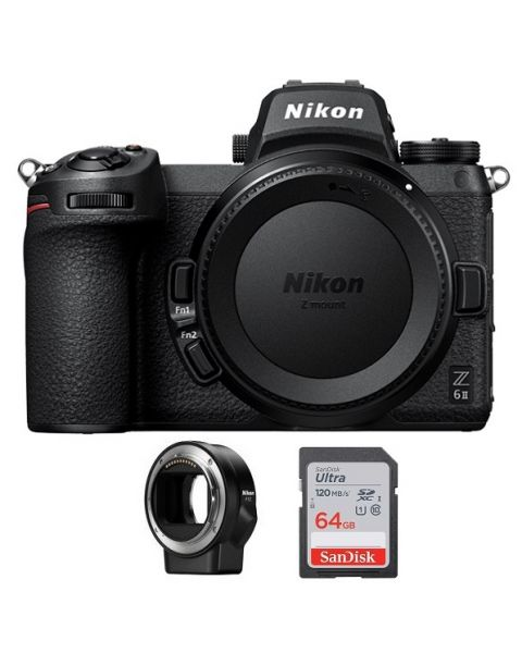 NIKON Z6 II Mirrorless Body Only + FTZ Mount + Memory Card 64GB (VOA060AM)