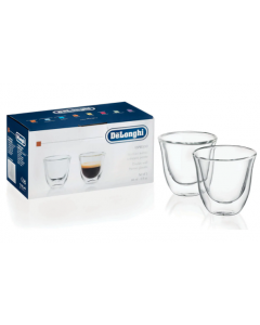 De'Longhi Espresso Cups - Set of 2 Glasses , 60 ml (CUPS ESPRESSO)