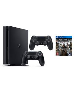 Slim PlayStation 4 1TB Console With Extra Dual Shock Controller (CUH2216BB/DS4/P90) + 3 month plus membership + Free Assassin's Creed Game