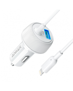 Anker Car Charger Elite – lightning connector Putih - white (A2214H21)