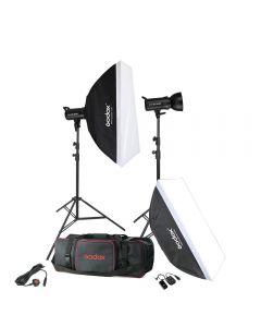 Godox GT400 2 Heads Studio Kit (GT400-KIT) + 2 Pieces Light Stand Free