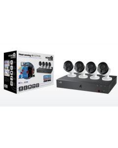 طقم كاميرا مراقبه للمنزل 8 قنوات / عدد 4 كاميرا - 2تيرابايت (HGDVK-84404)