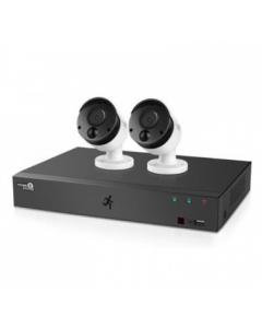 طقم كاميرا مراقبه للمنزل 4 قنوات / عدد 2 كاميرا - 1تيرابايت (HGDVK-44402)