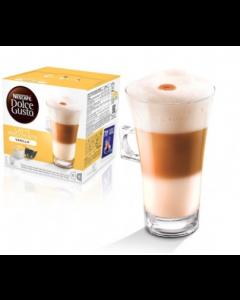 (LATTE VANILLA MACCHIATO) كبسولات قهوة فانيلا لاتية ماكياتو من دولتشي جوستو نسكافيه – ١٦ كبسولة