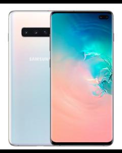 هاتف سامسونج جالاكسي إس١٠ بلس بسعة ١٢٨ جيجابايت - أبيض (SGH-G975FZW/128GB)