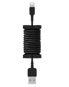 Philo Spool Lightning MFI Cable, Black (PH004BK)