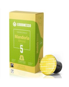 Gourmesso Almond Espresso Capsules for Nespresso Machines (MANDORLA ALMOND)