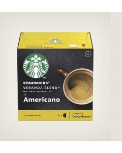 كبسولات قهوة أمريكانو من ستاربكس ، 12 كبسولة (SBUX BLONDE VERANDA)